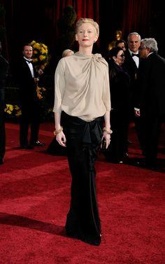 Tilda Swinton. Love her style