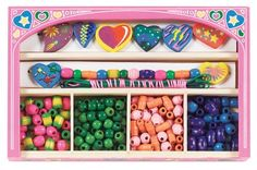 Melissa and Doug Sweet Hearts Wooden Bead Set * This is an Amazon Affiliate link. Click on the image for additional details.