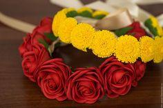Розы из фоамирана Купить Венок из розочек (фоамиран) - фоамиран, фоамиран иранский, цветы, цветы ручной работы