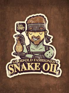 Gaming Sticker: Snake Oil by cronobreaker on deviantART