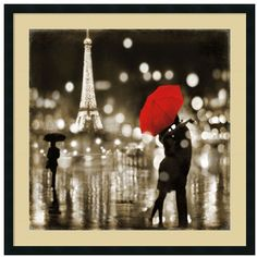 ''A Paris Kiss'' Framed Wall Art ($297) ❤ liked on Polyvore featuring home, home decor, wall art, backgrounds, art, frame, black, modern home decor, modern home accessories and paris home decor
