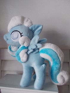 My little pony SNOWDROP plushie Custom made for by Cinnamonstitch, $299.00