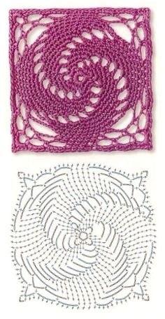 Transcendent Crochet a Solid Granny Square Ideas. Inconceivable Crochet a Solid Granny Square Ideas. Motifs Granny Square, Crochet Motifs, Granny Square Crochet Pattern, Crochet Flower Patterns, Crochet Diagram, Crochet Stitches Patterns, Crochet Chart, Crochet Squares, Thread Crochet