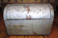 Metal Bread Box Huge Depression Era Tin or by TheOldTimeJunkShop, $65.00