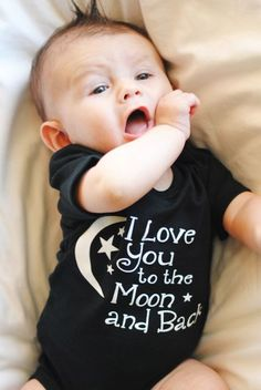 Love you to the Moon and Back-Perfect if you don't know the sex of the baby yet!