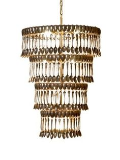 beautiful chandelier made from vintage spoons!