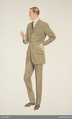 Style Gentleman, Dapper Gentleman, Suit Fashion, Fashion Art, Mens Fashion, Style Vintage Hommes, Costume Design Sketch, Vintage Outfits, Vintage Fashion
