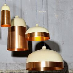 Innermost Glaze Large Pendant Light at Heal's really rock the copper and metallic trend. Large Pendant Lighting, Chandelier Pendant Lights, Interior Lighting, Lighting Design, Chandeliers, Luminaria Diy, I Love Lamp, Wall Lights, Ceiling Lights