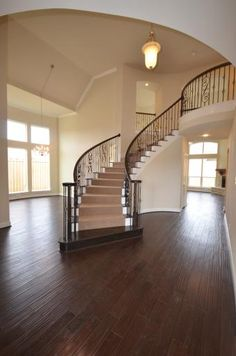 carpet stairway with dark wood on sides of steps and white backboards.