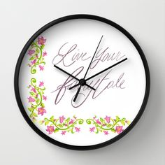 Live your fairytale by Psychae as a high quality Wall Clock. Worldwide shipping available at Society6.com.