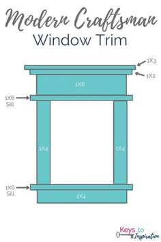 Tutorial for creating modern craftsman window trim. I love the clean crisp look … Tutorial for creating modern craftsman window trim. Craftsman Window Trim, Interior Window Trim, Diy Exterior Window Trim, Outdoor Window Trim, Craftsman Interior Doors, Craftsman Home Decor, Craftsman Remodel, Exterior Stairs, Craftsman Exterior