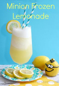 Minion Frozen Lemonade - the perfect recipe for a Minion themed party or even a warm summer day!
