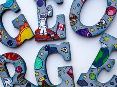 Hey, I found this really awesome Etsy listing at https://www.etsy.com/listing/227908971/customized-space-theme-wooden-letters