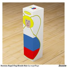 Russian Angel Flag Blonde Hair Wine Gift Boxes
