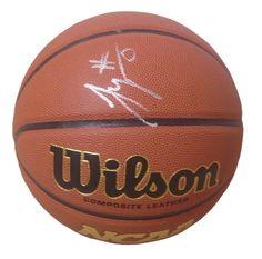 Jayson Tatum Autographed Wilson NCAA Indoor / Outdoor Basketball, Proof Photo