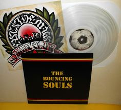 the BOUNCING SOULS self-titled s/t LP Record CLEAR Vinyl , limited edition #punk
