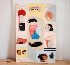 Ceramic panel for a group exhibition, now on our website. • Painel de madeira e cerâmica no uinverso.com