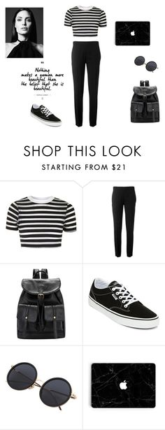 """""""black and white"""" by vega-skouboe-lindberg on Polyvore featuring Topshop, Chloé and Vans"""