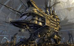 Airship Artwork Final Fantasy IX Futuristic Steampunk Vehicles ...