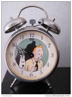 Magnifique Ancien Réveil à L'effigie De Tintin Et Milou. - Autres Collections
