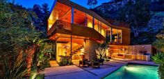 Splendide maison bois mise en vente sur les collines d'Hollywood | Construire…