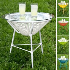 Poolside or on the patio, this sleek patio table is ideal for weekend horderves or relaxing outdoors with a glass of refreshing lemonade.