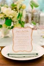 Edible wedding menu