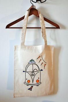 doğal kumaştan bez çanta _ barışa yolculuk