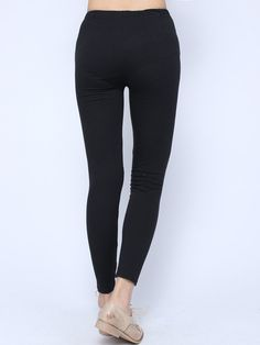 ae997d99838ee Black Ripped Leggings - Black in 2019 | Real Women | Roupas, Calça