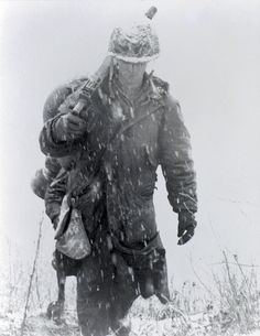 Korean War: The fate of the infantryman is to march -- day or night, in any weather, with any load. And then be prepared to fight -- exhausted or not, hungry or not, walking wounded or not. The infantryman's fate....