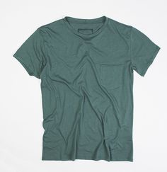 Green Round Neck Modal-Blend Tee by The Project Garments