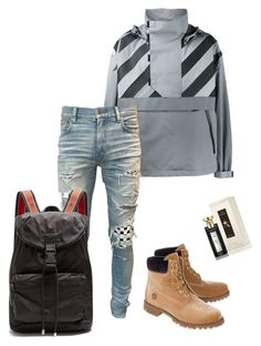 """""""Untitled #612"""" by aintdatjulian on Polyvore featuring Moncler, Off-White, AMIRI, Givenchy, Bulgari, men's fashion and menswear"""