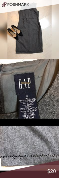 Wool Blend Gray Gap Dress Cute Gap dress work darling edging.  Great alone with pumps or with a black turtleneck under! GAP Dresses Midi