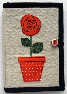 Folded E-Reader Cover Embroidery Project by Pat Williams