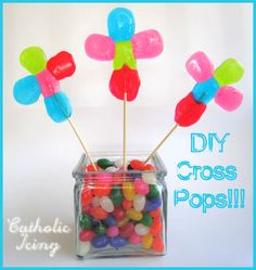 Cross Candy Pops made from Jolly Ranchers! (with instructions).