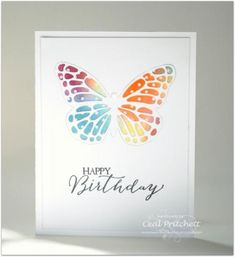 Stained Glass Butterfly Birthday Card