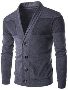 MENS PLAIN CLASSIC SLIM FIT KNITTED FITTED BUTTON UP CARDIGAN JUMPER SWEATER