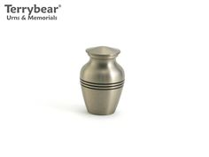 Terrybear Classic Pewter Keepsake. This Keepsake can hold a small amount of cremated remains.
