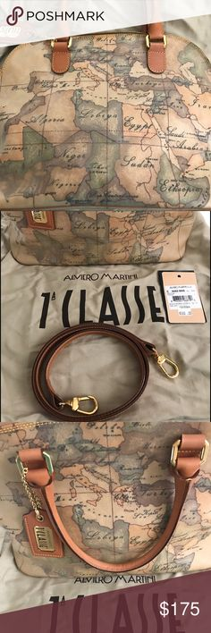 REDUCED...Authentic Alviero Martini Hand Bag Beautiful handbag with optional shoulder strap and inside pocket with zipper dust bag perfect condition yes, it's authentic Alviero Martini Bags