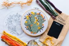 by Walker Boyes Embroidery Kits, Cactus, Neutral, Bloom, Cactus Plants
