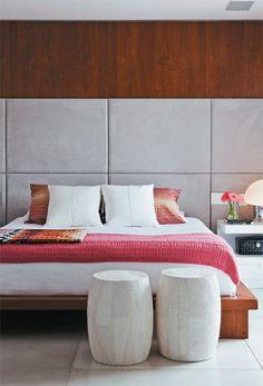 Apartamento Diogo Jacome 1 / Paula Magnani Freitas #bedroom #bed #cabeceira