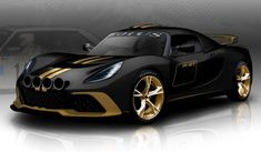 Black and Gold Lotus Exige R-GT