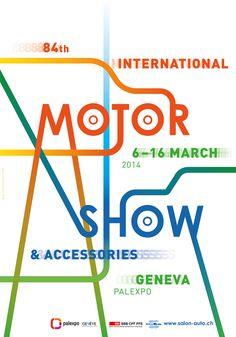2014, 84th International Motor Show, Geneva, March 6-16 #poster