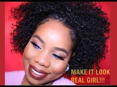 Natural Hair  best real looking half wig ever!   protective styling - YouTube