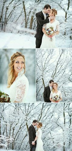 #winterwedding #wedding #style #weddingphotography  #weddingcouple #bride #groom #snow #letitsnow #customdreamgowns