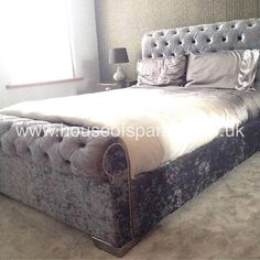 Crushed Velvet Silver Grey Future Home Decor Bedroom