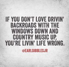 Driving backroads with the windows down