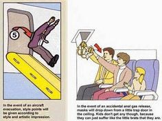 Funny In-Flight Safety Manual