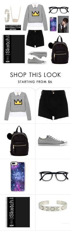 """Ya gots hacked man"" by yinyang-bestfriend-goals on Polyvore featuring Alice + Olivia, River Island, Madden Girl, Converse, Casetify and Kendra Scott"
