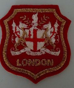 London White Horse Knight Symbol Patch Sew On Collectible Travel Souvenir  #Unbranded
